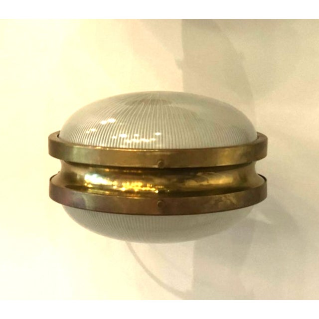 Artemide Pair of Mid Century Modern Sergio Mazza 'Gamma' Artemide Brass Sconces For Sale - Image 4 of 11