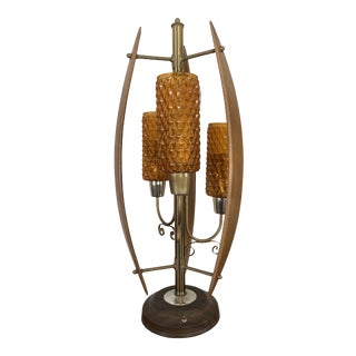 Mid Century Modeline Style Table Lamp For Sale