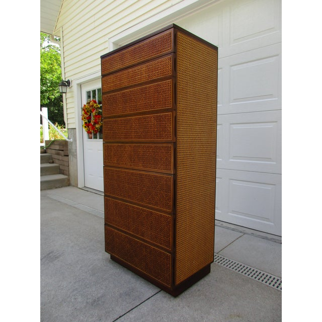 Cane Front Eight Drawer Dresser by Directional For Sale - Image 6 of 12