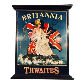 English Double-Sided Hand Painted Pub Sign For Sale