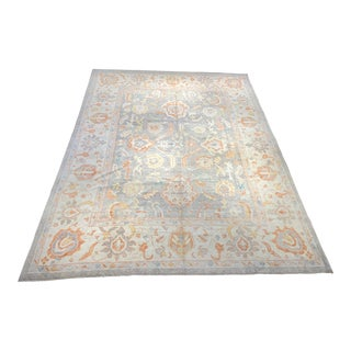 Contemporary Turkish Oushak Wool Rug - 11′3″ × 15′ For Sale