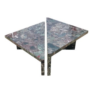 Post-Modern Italian Marble Coffee Table - 2 Pieces For Sale
