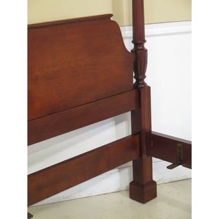 1980s Traditional Baker Queen Size Mahogany Poster Bedframe Preview
