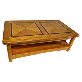 Solid Wood Country Style Coffee Table For Sale