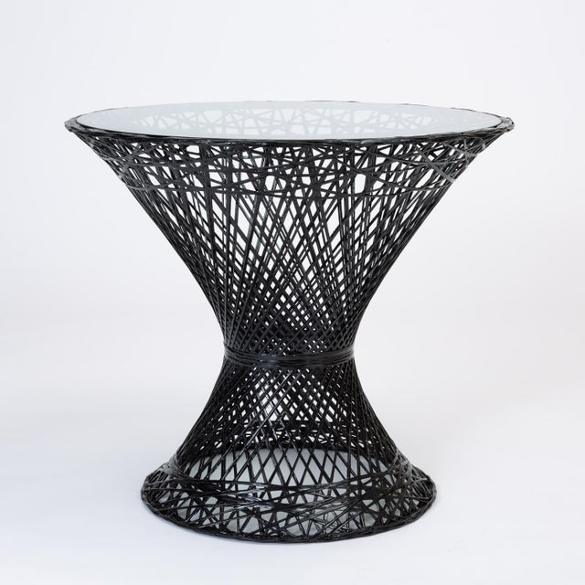 Spun Fiberglass Patio Bistro Table by Woodard Furniture For Sale In Los Angeles - Image 6 of 7