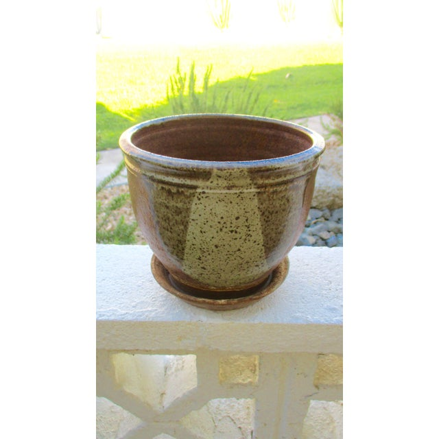 Brown Robert Maxwell Style Glazed Planter For Sale - Image 8 of 9