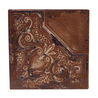 Brown Corner Style Tin Panel For Sale