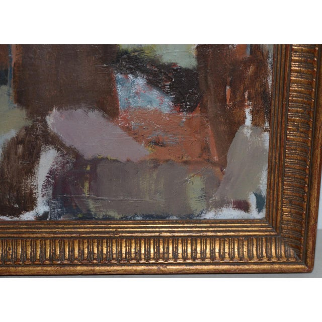 Abstract Marcello Avenali (Italy, 1912-1981) Portrait of Young Woman Oil Painting C.1950s For Sale - Image 3 of 8