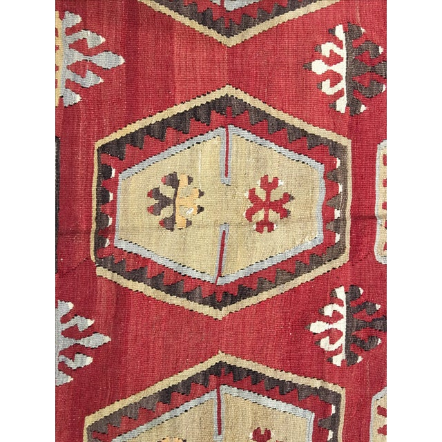 1920s Turkish Kilim - 8′1″ × 11′9″ - Image 6 of 8