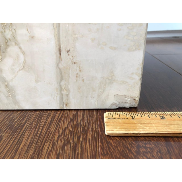1970s 1970s Hollywood Regency Artedi Travertine and Brass End Tables - a Pair For Sale - Image 5 of 8