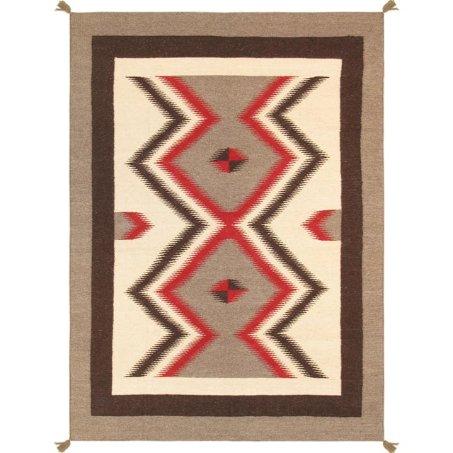 "Navajo Decorative Hand-Woven Rug - 4'10"" X 6'11"" - Image 1 of 3"