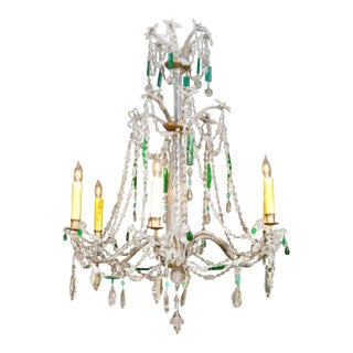 Refined Italian crystal chandelier