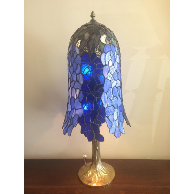Somers Stained Glass Lamp For Sale - Image 5 of 10