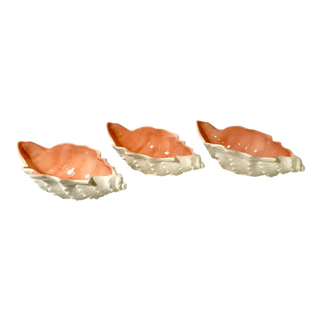 Vintage Fitz and Floyd Shell Shaped Bowls - Set of 3 For Sale
