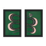 "Small ""Zucchini the Snake I and Ii"" Set of 2 Prints by Willa Heart, 26"" X 20"""