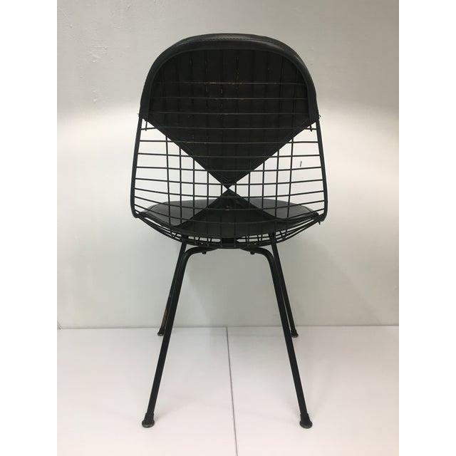 1950s Vintage Black on Black D K R Bikini Chair by Charles Eames for Herman Miller For Sale - Image 5 of 12