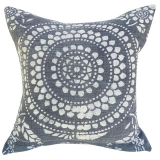 Antique Gray Batik Pillow