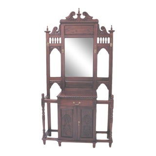 Chippendale Style Hall Tree For Sale