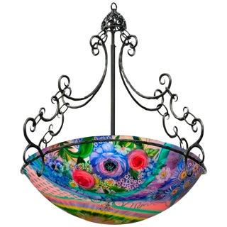 Original Ulla Darni Signed Rainbow Chandelier For Sale