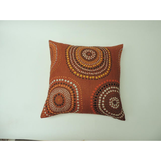 """Modern """"Circles"""" Linen Decorative Pillow For Sale In Miami - Image 6 of 6"""