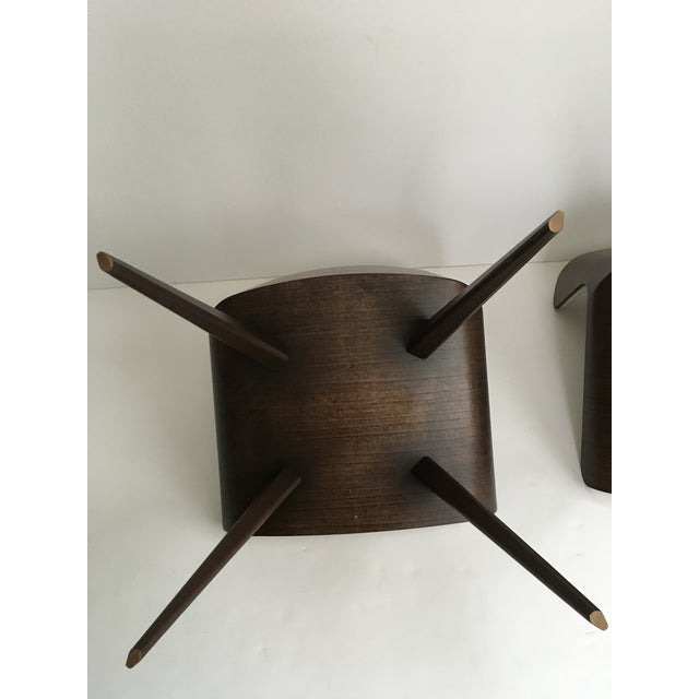 Mid-Century Style Wood Wrapped Accent Chairs- a Pair For Sale - Image 11 of 13