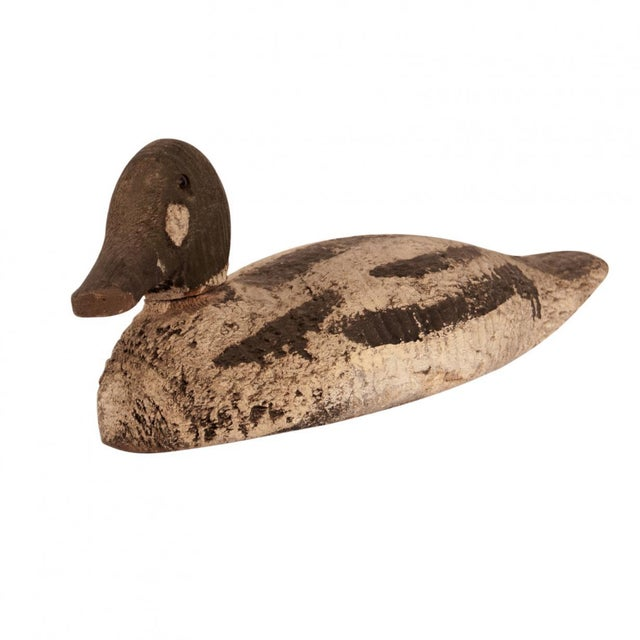 Folk Art 1920s Wood Duck Decoy, United States For Sale - Image 3 of 9