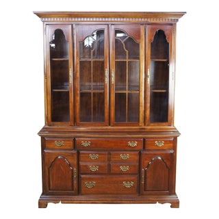 American Drew Chippendale Cherry Grove Style China Display Cabinet For Sale