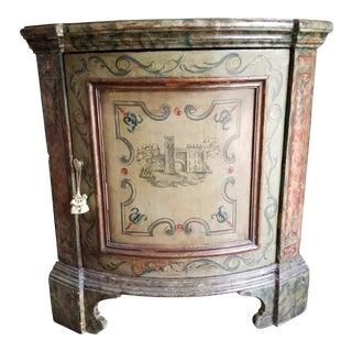 Antique Venetian Corner Cabinet For Sale
