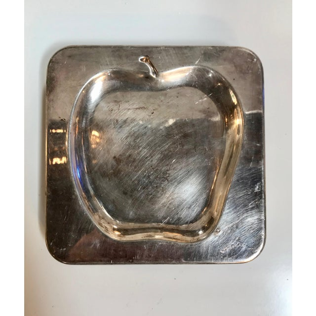 1970s Vintage Italian Chrome Square Cocktail Plates - Set of 6 For Sale - Image 4 of 8