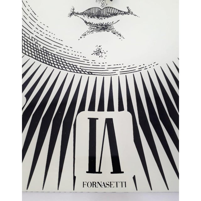 Fornasetti Wall Clock by Fornasetti For Sale - Image 4 of 6