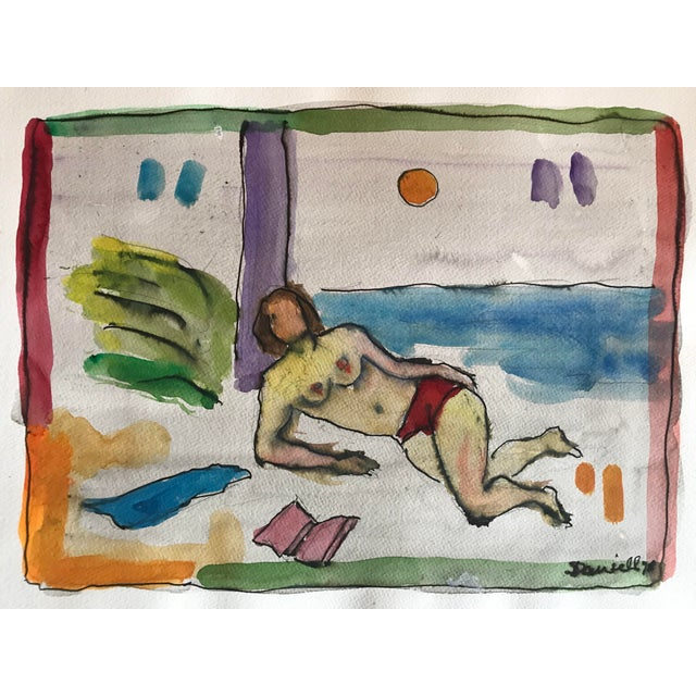 1970s Double Nude & Still Life Painting For Sale - Image 5 of 5