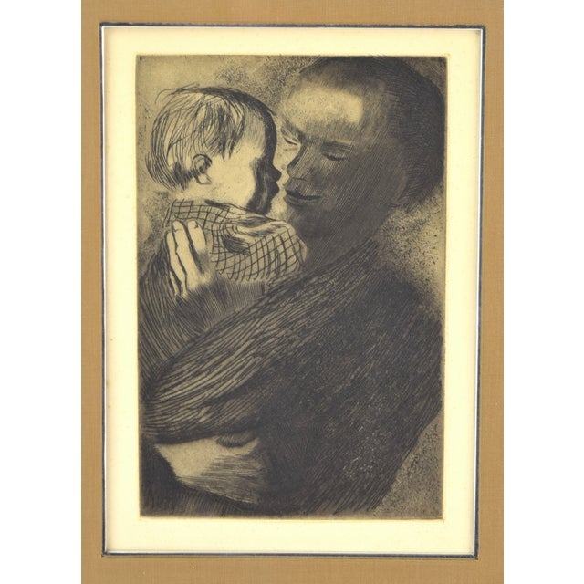 "Käthe Kollwitz (German, 1867-1945) ""Mutter mit Kind"" etching on wove paper, from the Von der From a von der Becke edition..."