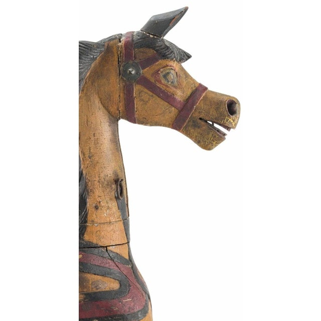 19th Century Charles Dare American Hand Painted & Carved Carousel Horse Figure For Sale - Image 4 of 11