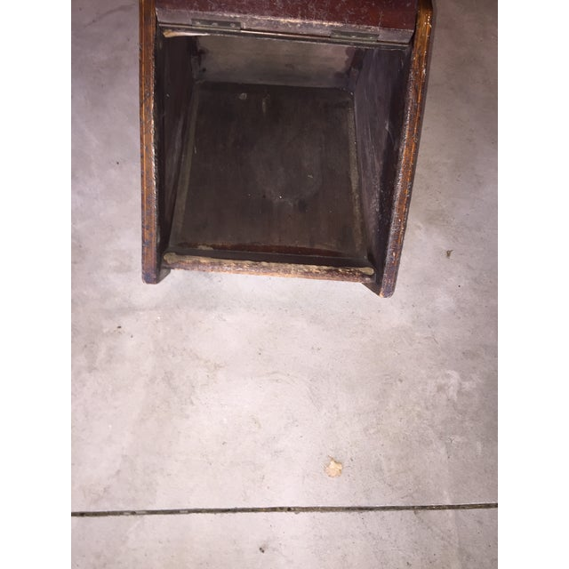 Mahogany Coal Bin For Sale - Image 4 of 6