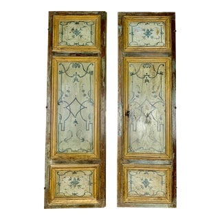Pair of 19th C. Painted Italian Neoclassical Style Panels For Sale