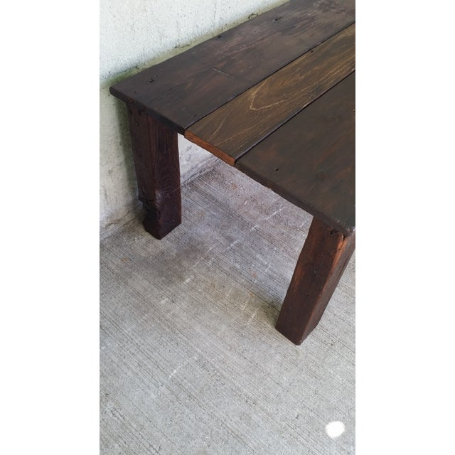 Reclaimed Wood Coffee Table - Image 4 of 4