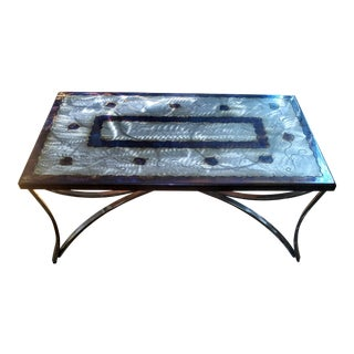 Gloss Finish Steel Cocktail/Coffee Table - Frank Seckler For Sale