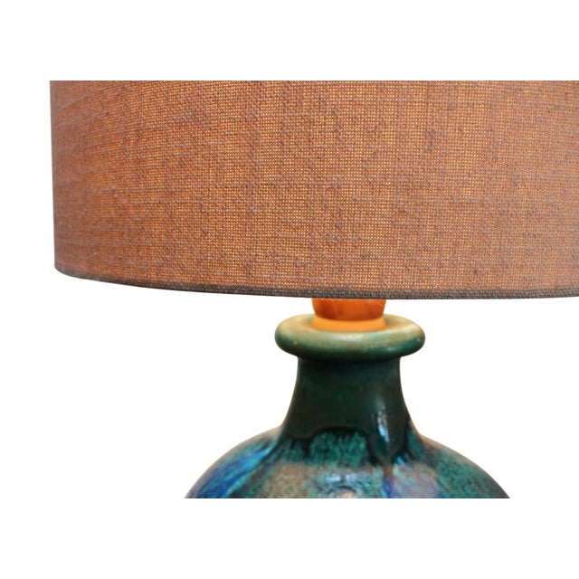 Blue Pottery Lamp - Image 4 of 4