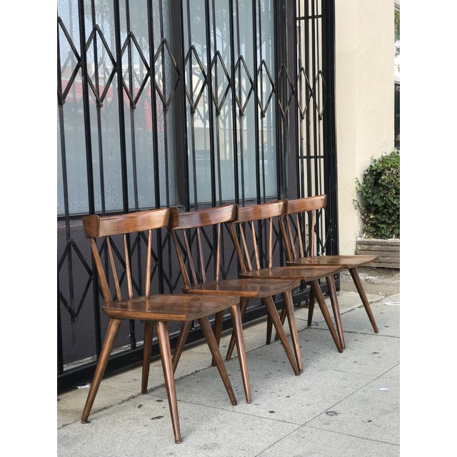 Contemporary Mid Century Modern Dining Chairs by Paul McCobb- Set of 4 For Sale - Image 3 of 13