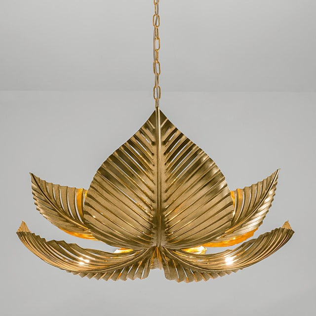 Palm Leaves Pendant Light For Sale - Image 4 of 4