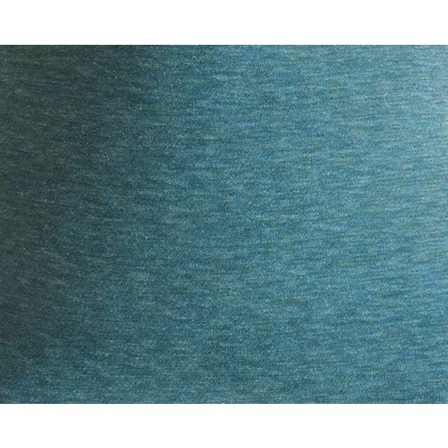 "Schumacher Velvet & Linen Feather/Down Pillows 21"" Square - Pair For Sale - Image 10 of 13"