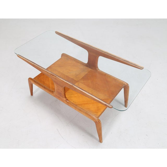 Gio Ponti Coffee Table in Ash and Glass Top For Sale - Image 9 of 9