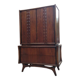 1960s Mid-Century Modern Red Lion Dresser For Sale