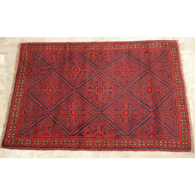 Vintage Persian Baluchi Carpet - 2′10″ × 4′4 - Image 2 of 3