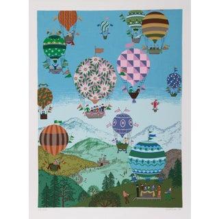 """Jack Hofflander, """"Summer Balloons,"""" Serigraph For Sale"""