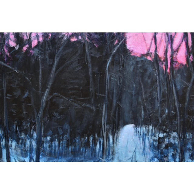 """Stephen Remick """"Snowy Intersection at Dawn"""" Contemporary Acrylic Painting by Stephen Remick, Framed For Sale - Image 4 of 12"""