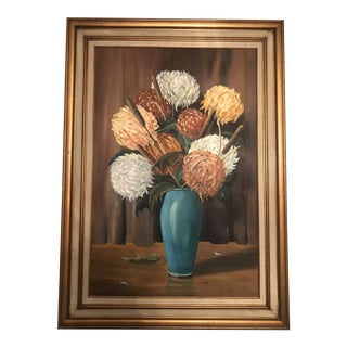 Original Oil on Canvas Floral Painting For Sale
