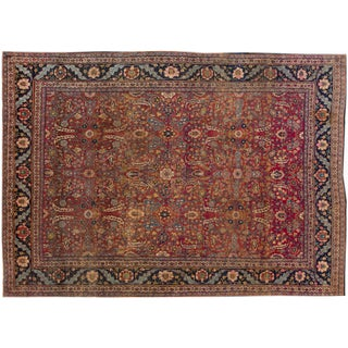 """Vintage Hand-Knotted Persian Rug - 9'2"""" X 12'6"""" For Sale"""
