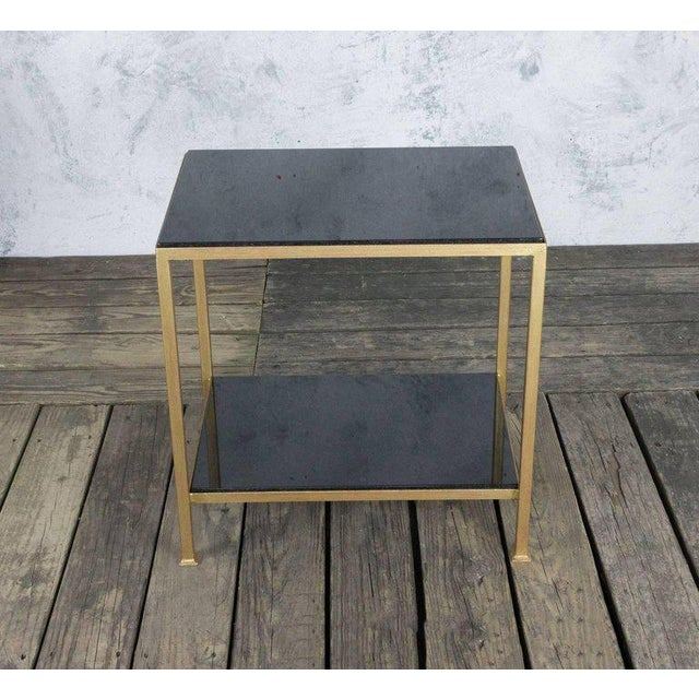 Marcelo Iron End Table With Polished Granite Surface For Sale - Image 10 of 11