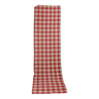 Antique French Check Curtain For Sale